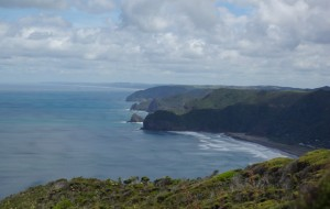 Coastline north up to Muriwai beach in distance