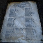 Roll of Honour cleaned for Anzac Day