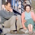Wilf and Ella Hilford, lovers of Piha's pohutukawa