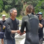 Rastovich welcomed to Piha after epic paddle protesting sea bed mining