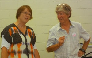 Penny Pirrit with outgoing president, Graeme Webber