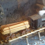 Piha Tramway model engine at Arataki
