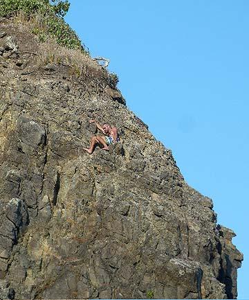 karekare cliff