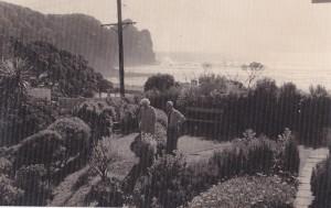 Gordon and Mary MacDiarmid at Piha