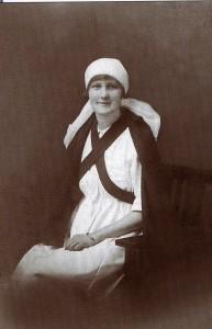 Hazel Bentham in her nurse's uniform