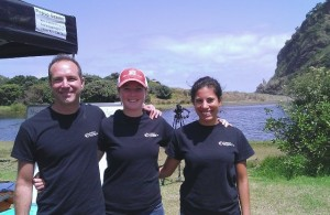 Dan Dukker and Ecomatters team at Piha lagoon