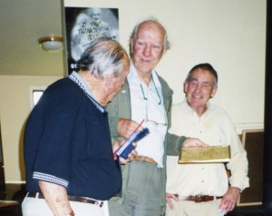 Des Pike, Jack de Bazin and Keith Nelson at the Bowling Club