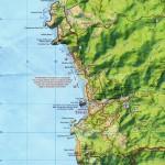 Map of Piha and coast