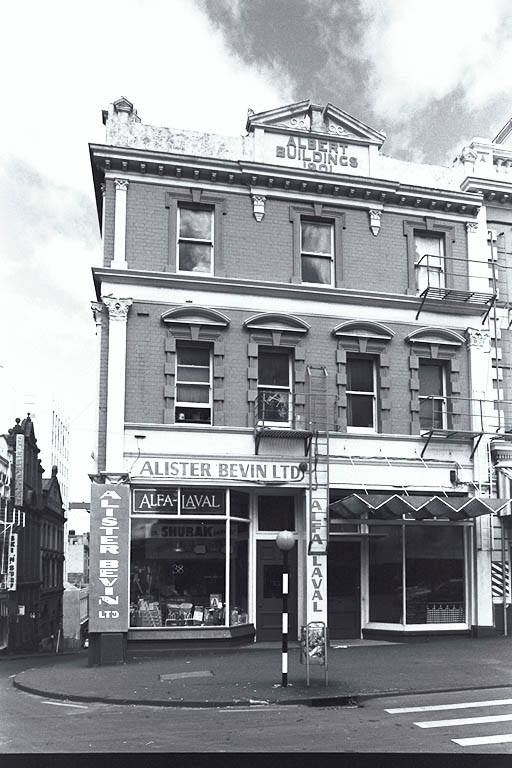 Albert Street premises of Alister Bevin, 1960s, ACL