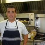 Kleber Santana cooks at Piha Surf Club restaurant