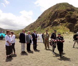 Coastguard receive wreaths from descendants of participants and the museum