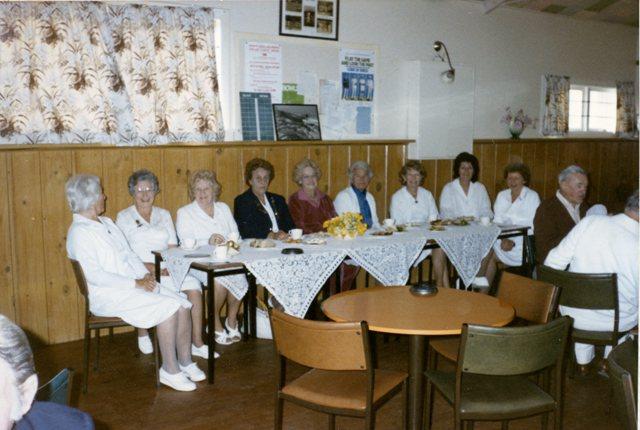 Jean de Vries, Gwenda Collins, N Reeves, Norma Skewes, B Blair, Dot Mercier, Jean Burgess, Barbara Duff and Rosalie Pringle