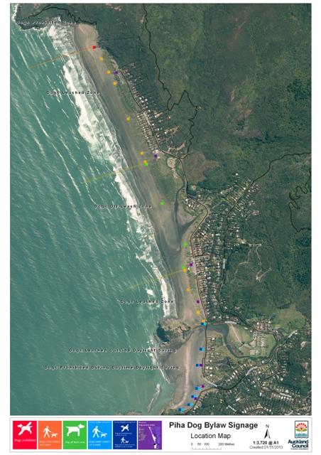 Att.3 Piha Beach dog bylaw sign location map
