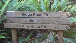 ridge road sign