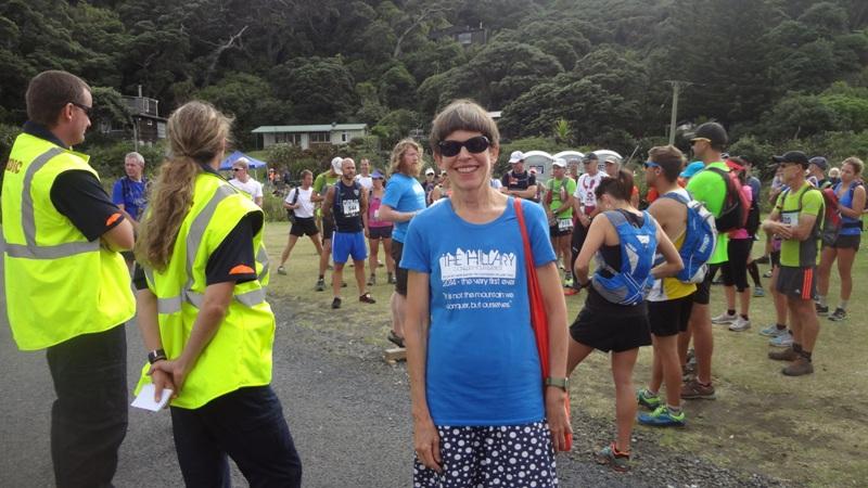 Sarah Hillary at the start at Piha Domain