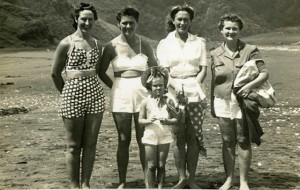 Eileen Broadhead left, with Zena Foubister, Barbara Way, Hazel Curtice and Ayleen Foubister (front)