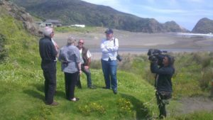 Cobined R&R groups and Waitakere Ranges Local Board filmed at Piha